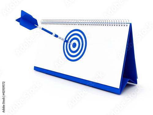 calendar, blue target