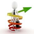 3d man bussiness success concept