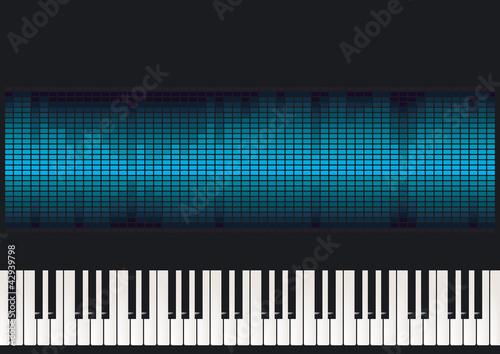 Klavier mit Equalizer