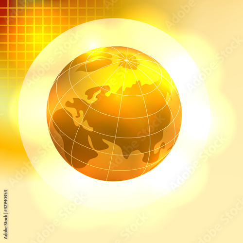 Gold Earth background