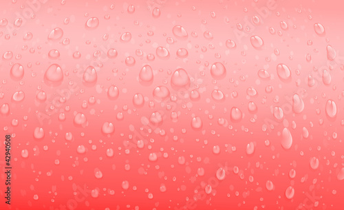 red water drops