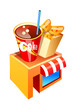 vector icon fastfood shop