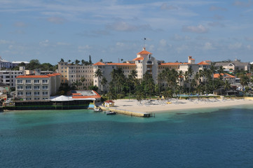 Nassau beach in Bahamas.