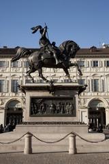 Torino,Caval ëd Brons in Piazza San Carlo