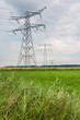 Power pylons in a rural Dutch area