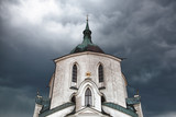 The pilgrimage church before big storm - Monument poster