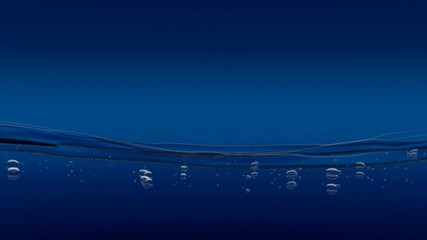 Wasserspiel blau