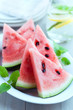 Sliced water melon on a plate