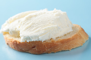 Kaymak on a bread