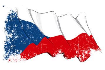 Grunge Flag of Czech Republic
