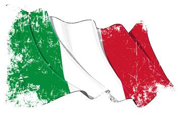 Grunge Flag of Italy