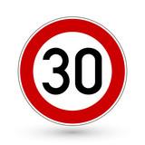 Fototapety Verkehrszeichen - Höchstgeschwindigkeit 30 km/h