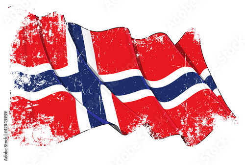 Grunge Flag of Norway