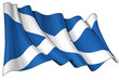 Grunge Flag of Scotland