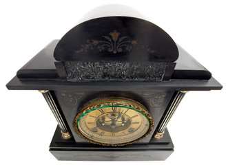 Antique Clock with Roman Numerals from above