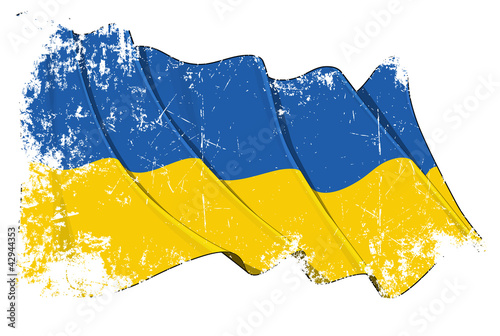 Grunge Flag of Ukraine