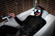 diver in a bath
