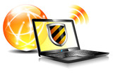 Shield Laptop Internet Protection antivirus icon