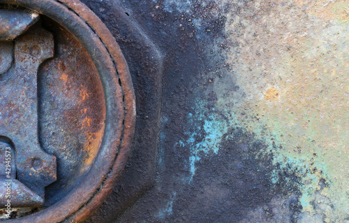 Old rusted petrol cap