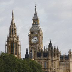 London skyline, Westminster Palace, Big Ben and Central Tower
