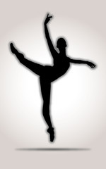 Dancer Silhouette Black