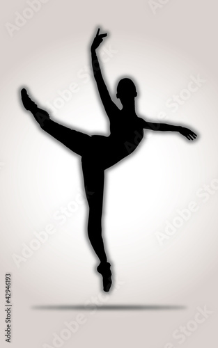 Dancer Silhouette Black