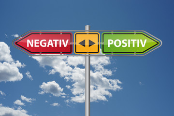 Positiv oder negatives Feedback