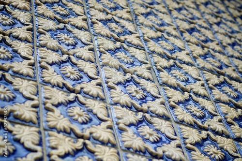 blaue relief fliesen aus portugal von tim ole lizenzfreies foto 42947538 auf. Black Bedroom Furniture Sets. Home Design Ideas