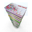 colored gift cards