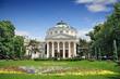 Leinwanddruck Bild - Romanian Athenaeum is a concert hall in the center of Bucharest,