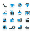 Shopping and mall icons - vector icon set
