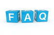 Faq cubes 3d render illustration