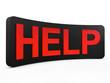 help plate 3d render illustration