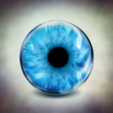 glass blue eye