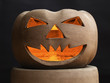 Halloween pumpkin made of clay