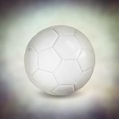 leather white football