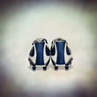 pair of blue football boots