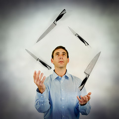 knife juggling