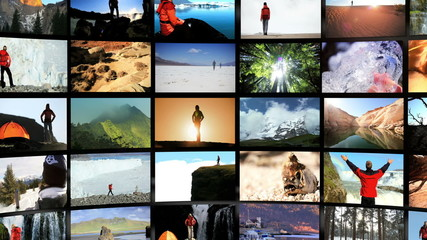 Montage Digital Wall Outdoor Lifestyle Travel Locations