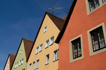 colorful house in Rothenburg ob der Tauber