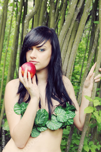 Eve with an apple