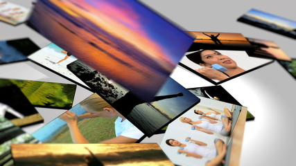 Montage 3D Images Yoga and Massage Fitness