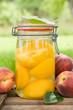 Einmachglas, Pfirsiche