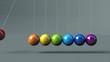 Kugelspiel animiert Regenbogen
