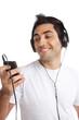 Man Listening Music on Mp3 Player