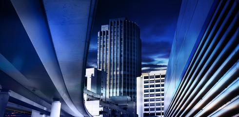 blue inner city