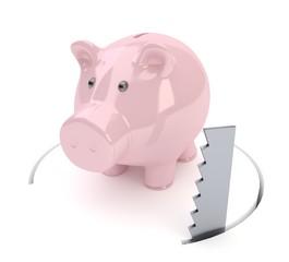 Sparschwein absägen