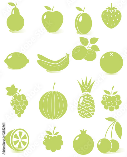 Set of vector fruit icons
