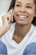 African American Woman Girl Talking on Cell Phone
