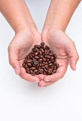 Handful of coffee